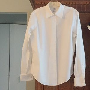 """Brooks Brothers """"Oprah"""" white classic button down"""